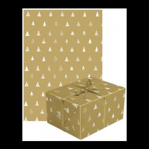 Goldenes Geschenkpapier mit Paket