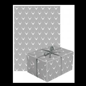 Silbernes Geschenkpapier mit Paket